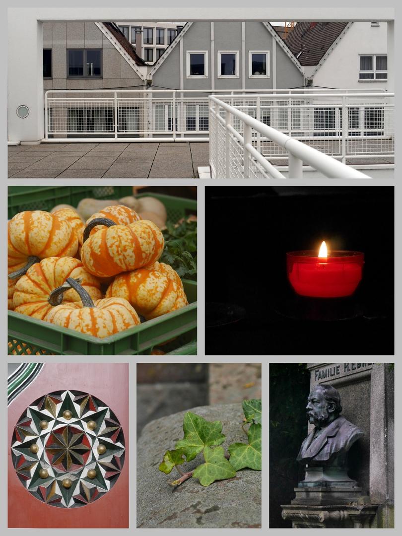"""Stadthaus, Markt, Georgskirche und """"Alter Friedhof"""" in Ulm"""