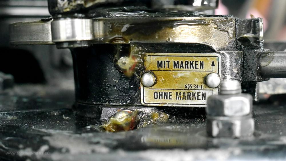 Detail am OHT, Kleindruckmaschine, Buchdruck