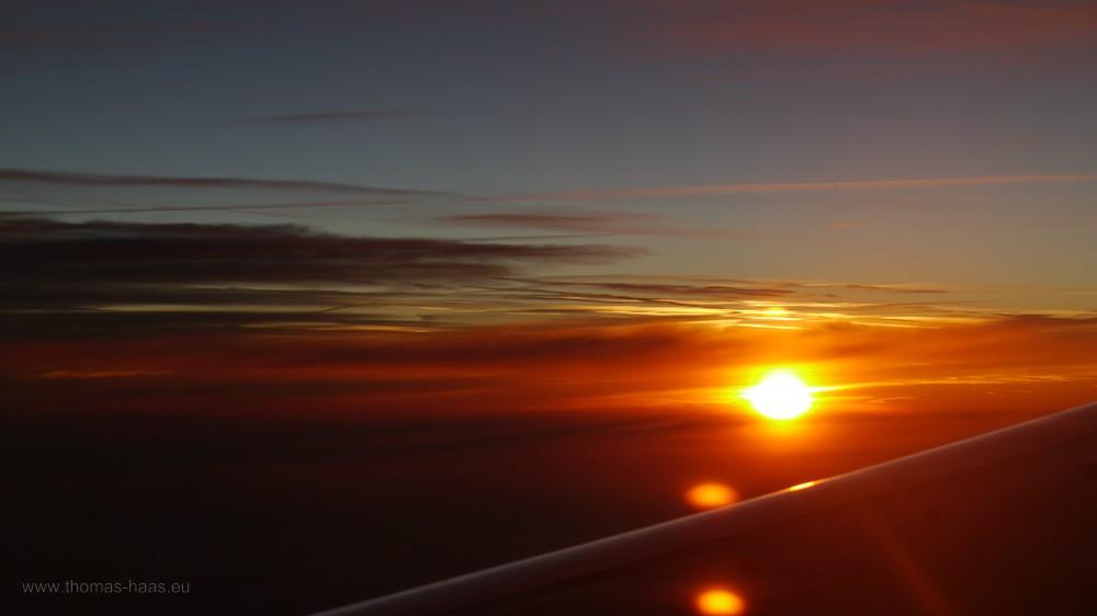 Sonnenaufgang auf 10.000 m, September 2016