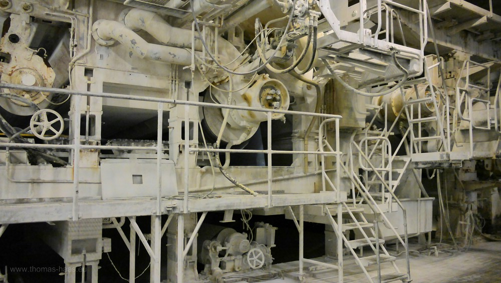 Papiermaschine 5 im Betrieb, Oktober 2016