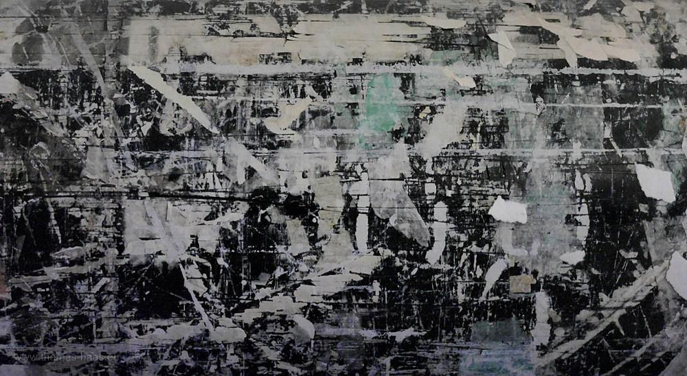 Tambour mit Kleberückständen - ein Kunstwerk...