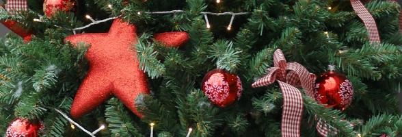 Weihnachten: Der Baum in rot gestaltet, Messe Ulm, 2016