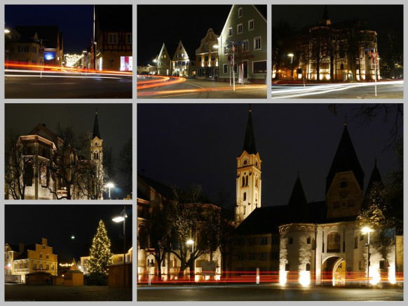 Leuchtspuren in Weißenhorn, Langzeitbelichtungen