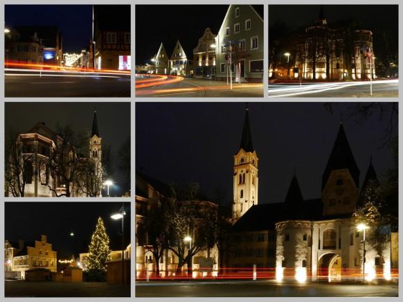 Collage Nachtaufnahmen, November 2016