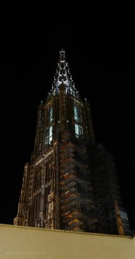Beleuchteter turm, Installation Münster Scanning