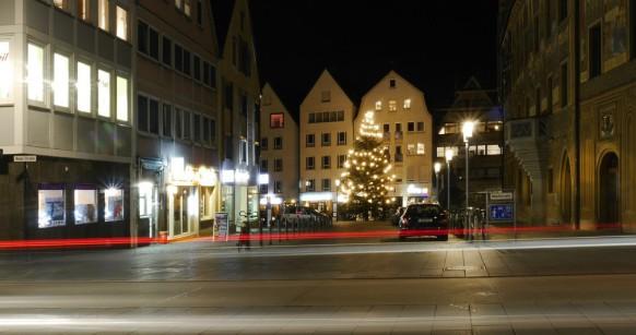 Langzeitbelichtung über die Neue Straße