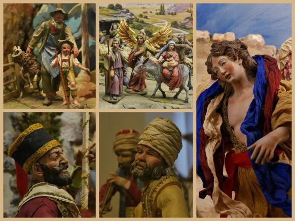 Collage italienischer Krippen