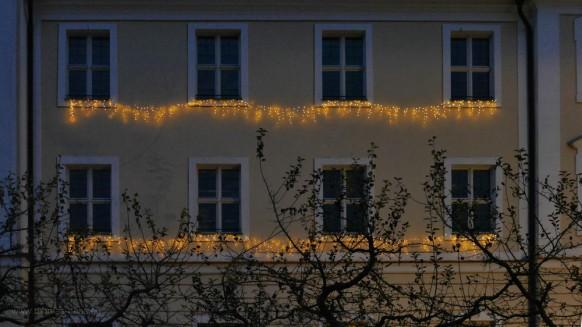 Weihnachtsbeleuchtung, Markt in Roggenburg