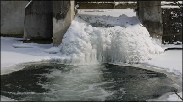 Fallenstock, vereist, Winter 2012