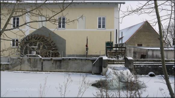 Winter 2012, Vogt-Mühle, Mühlbach