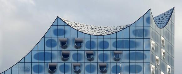 Elbphilharmonie, Dachkonstruktion, Ausschnitt, 2016