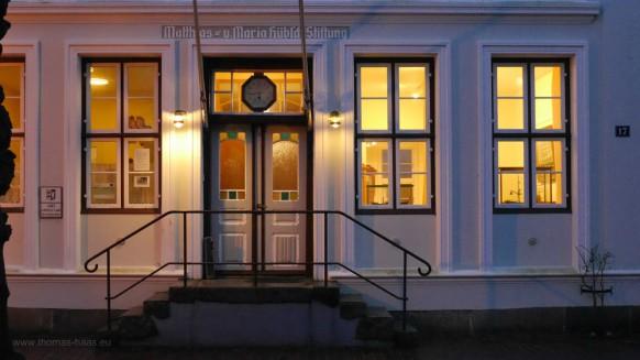 Arnis, kleinste Stadt in Deutschland, Februar 2017