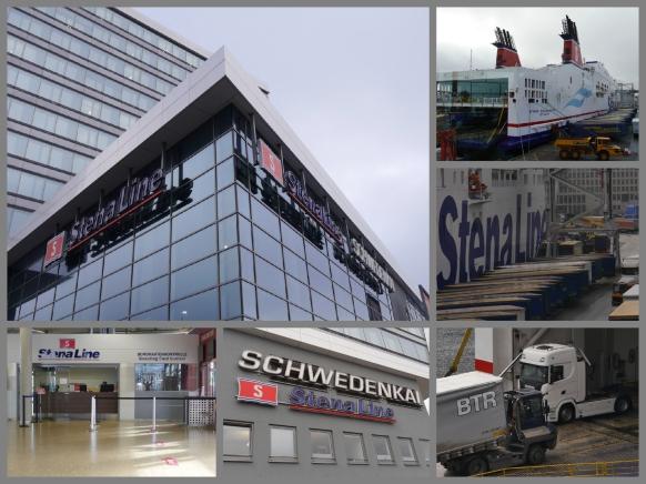Collage vom neuen Schwedenkai, Kiel, 2017