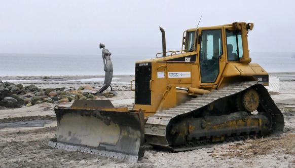 Reparaturarbeiten am Strand von ECK, Februar 2017