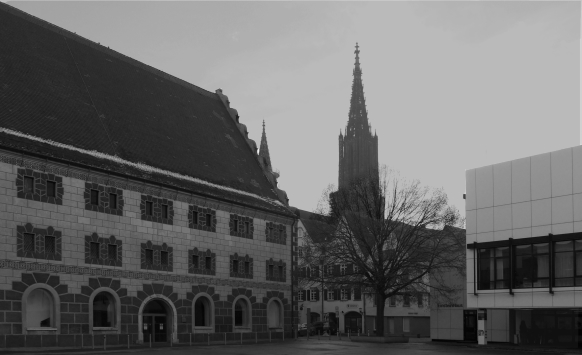 Kornhausplatz, Ulm, Februar 2017