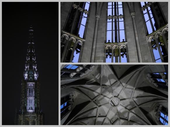 Collage, Münster und Licht