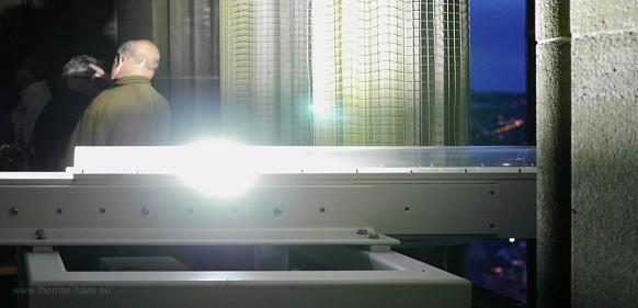 LED-Chip Beleuchtung beim Münster-Scanning, 2017