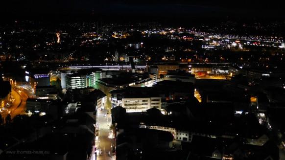 Blick auf die nächtliche Stadt, Mai 2017