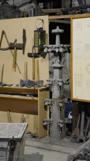 Kreuzblume, Modell in der Bauhütte