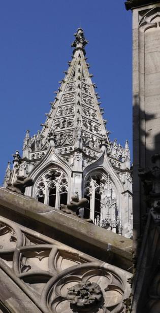 Der südliche Chorturm am Ulmer Münster...