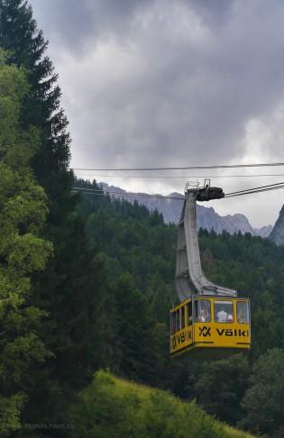 Alpspitzbahn, Gondel, August 2017