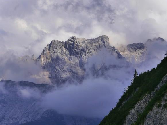 Alpspitzregion, das Licht am Abend, August 2017