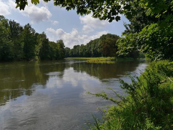 Die Mündung der Iller in die Donai, Ulm, 2017