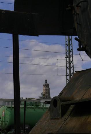 Blick vom BEM durch die Lokomotive zum Daniel