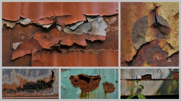 Collage mit Lackschäden, August 2017