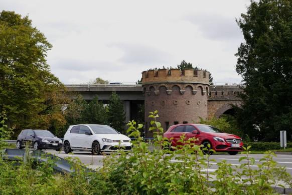 Das Blaubeurer Tor im Verkehrsstress, 2017