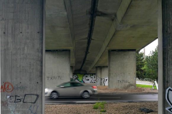 Wallstraßenbrücke Richtung Norden