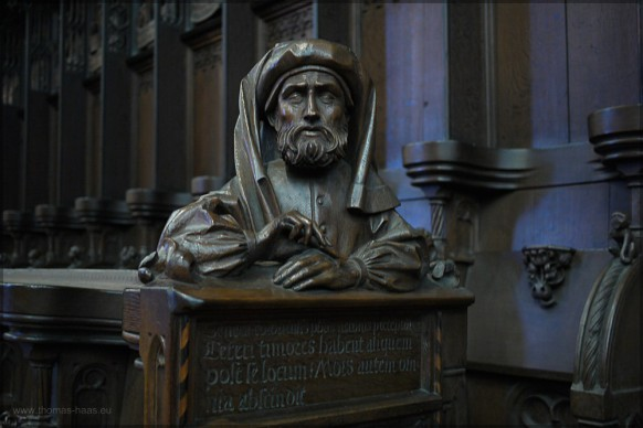 Seneca im Ulmer Chorgestühl