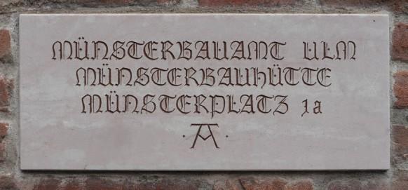 Hinweis Münsterbauamt Ulm, 2017