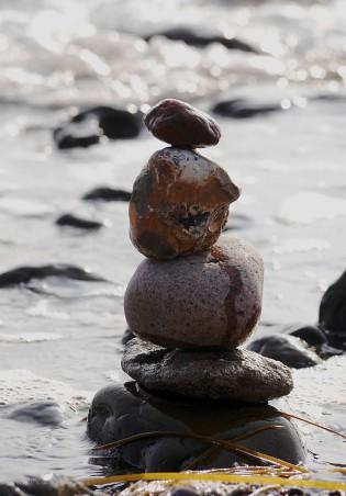 Steinmännchen am Strand...