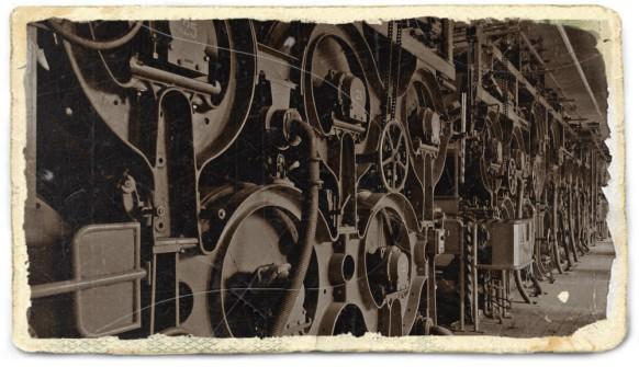 Buildbearbeitung der Papiermaschine aus dem Jahr 1903