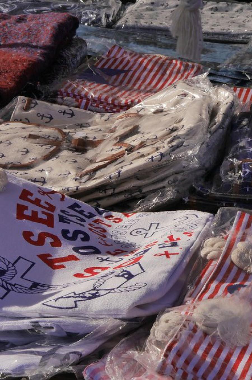 Textilien auf dem Fischmarkt