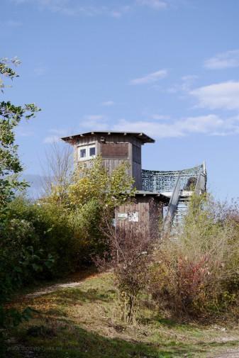 Plessenteich, NU, Beobachtungsturm, Oktober 2017