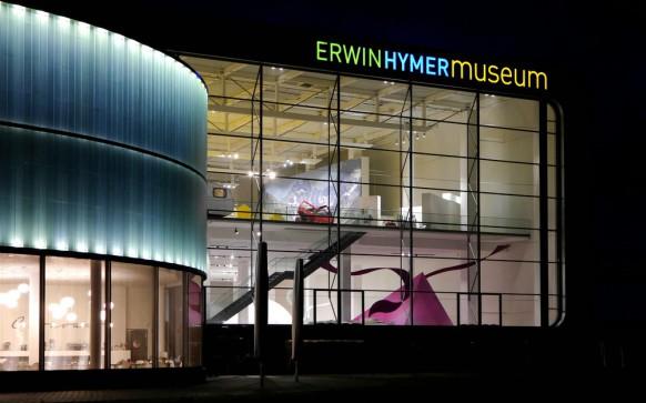 Nachtaufnahme, Hymer-Museum, 2017