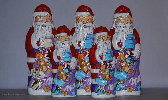 Weihnachtsmänner aus Schokolade...