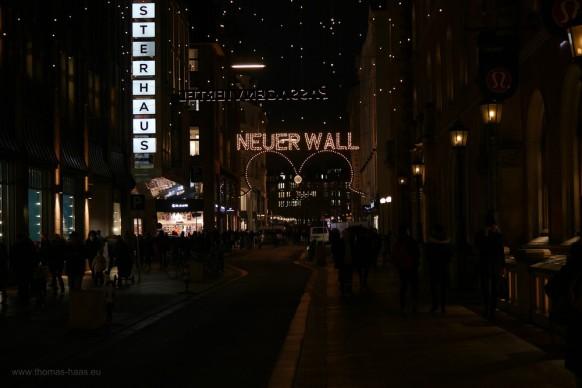 """Lichter am """"Neuen Wall"""" Hamburg, 2017"""