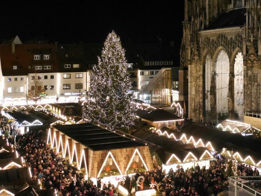 Münsterpaltz, Ulm, Weihnachtsmarkt, 2016