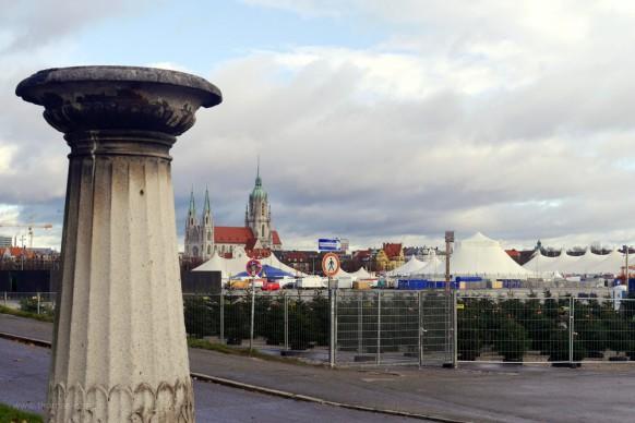 Blick zur Theresienwiese, Dezember 2017