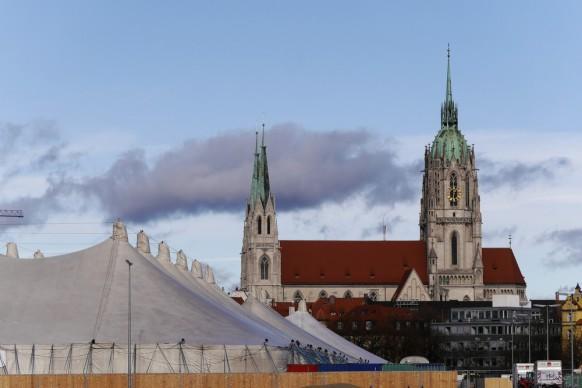 Blick auf die Paulskirche, Dezember 2017