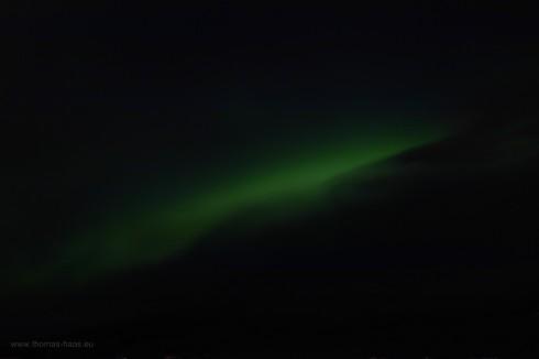 Nordlicht vom fahrenden Schiff, Februar 2018