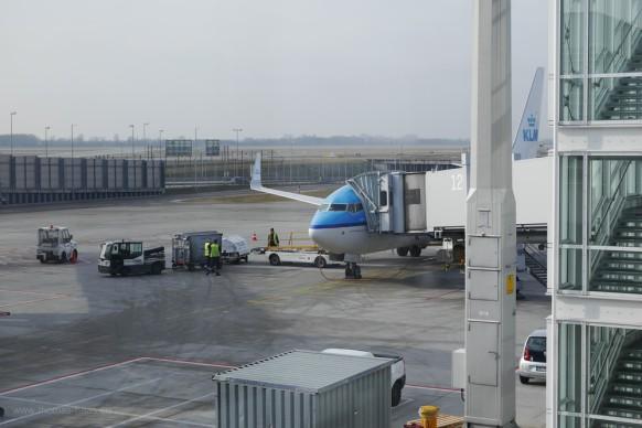 Flughafen München, KLM-Maschine, Februar 2018