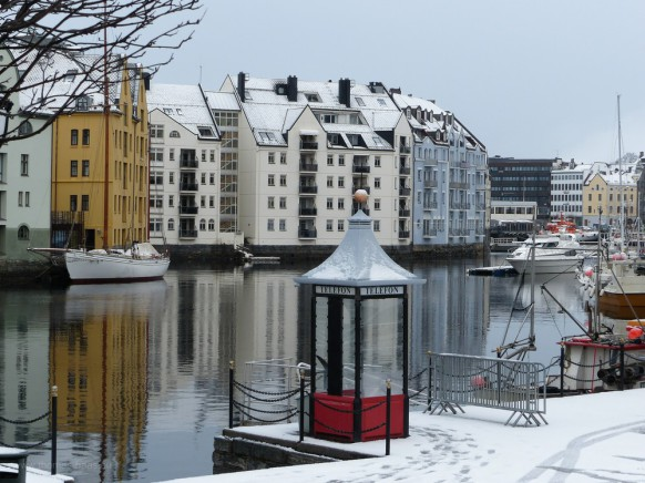 Ålesund im Schnee, Februar 2017