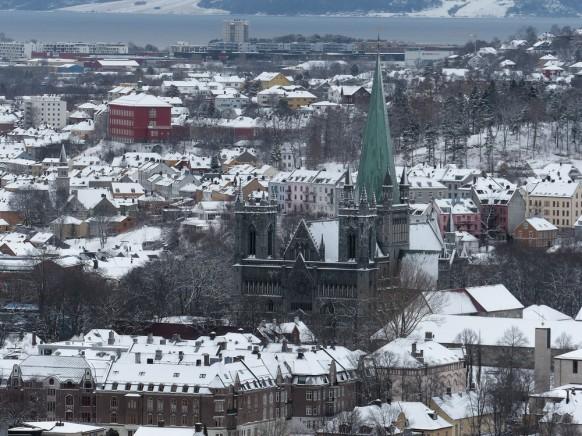Der Dom in Trondheim, Februar 2018