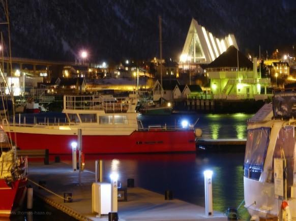 Tromsø, Langzeitbelichtung zur Kathedrale, Februar 2017