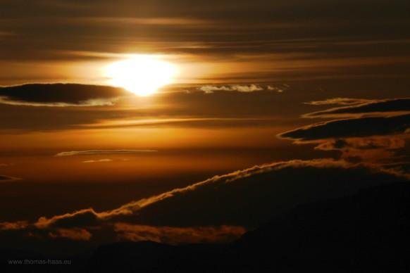 Sonnenaufgang  weit über dem Polarkreis, Februar 2018