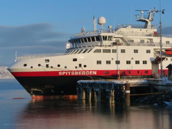 M/S Spitsbergen, Hurtigruten, Anleger Kirkenes, Februar 2018